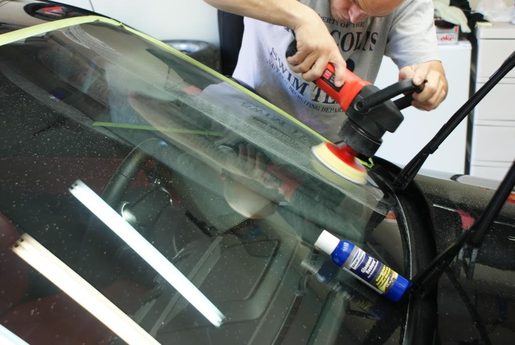 Как отполировать боковое стекло на автомобиле  видео